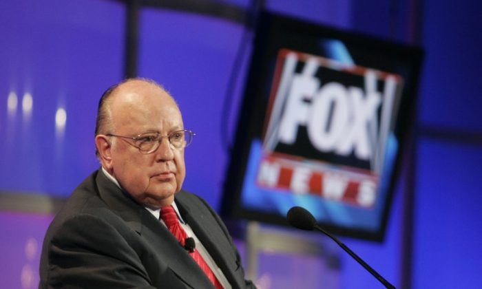 Roger Ailes, former chairman and CEO of Fox News and Fox Television Stations, attends a panel discussion at the Television Critics Association summer press tour in Pasadena, Calif., on July 24, 2006.  (REUTERS/Fred Prouser)