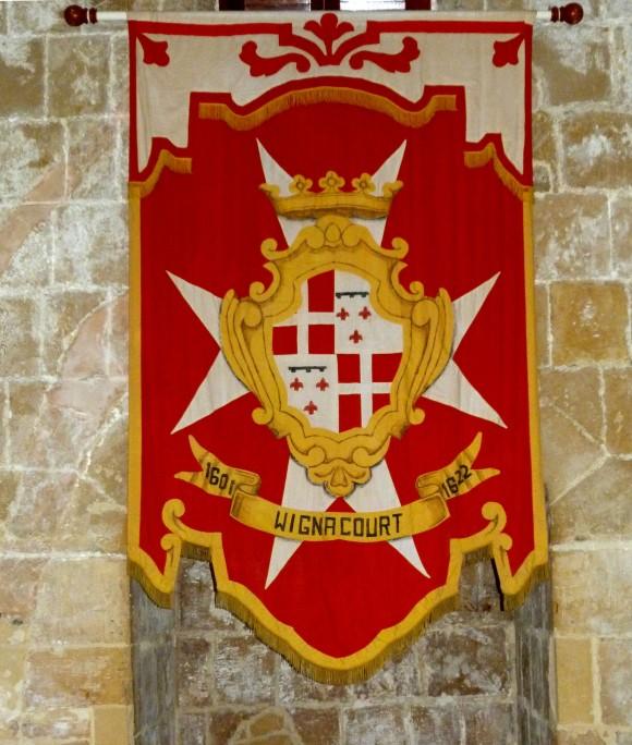 A Knights of St. John Grandmaster's pennanant. (Manos Angelakis)