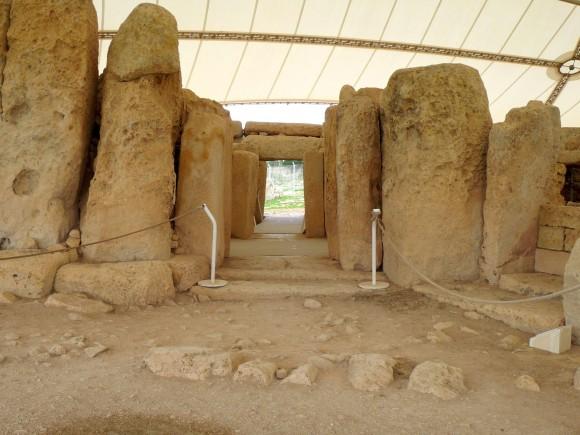 Megalithic temple Hagar Qim. (Manos Angelakis)