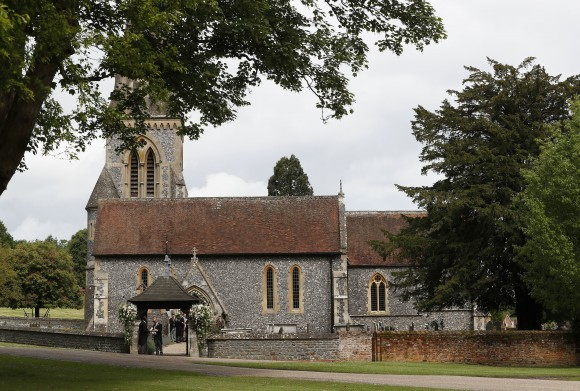ENGLEFIELD, ENGLAND - MAY 20:  A view of St Mark's Church ahead of the wedding of Pippa Middleton and James Matthews on May 20, 2017 in Englefield, England. Middleton, the sister of Catherine, Duchess of Cambridge is to marry hedge fund manager James Matthews in a ceremony Saturday where her niece and nephew Prince George and Princess Charlotte are in the wedding party, along with sister Kate and princes Harry and William. (Photo by Kirsty Wigglesworth - Pool/Getty Images)