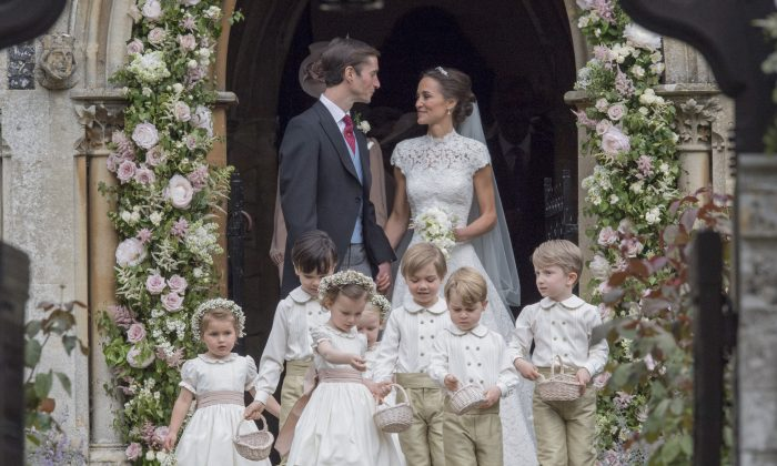 Pippa Middleton and James Matthews leave St Mark's Church following their wedding on May 20, 2017 in Englefield, England. (Arthur Edwards - WPA Pool/Getty Images)