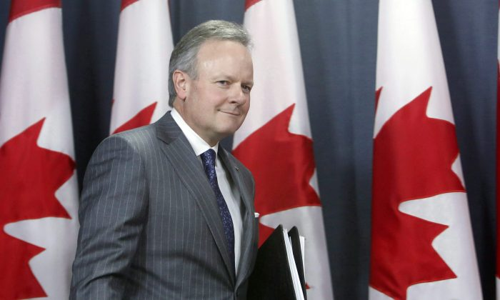 StephenPoloz, Governor of the Bank of Canada, arrives for a news conference after the release of the Monetary Policy Report in Ottawa on April 12, 2017. (The Canadian Press/Fred Chartrand)