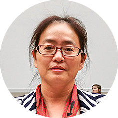 Ms. Jin Bianling, wife of human rights lawyer Jiang Tianyong, in a hearing room on Capitol Hill on May 18, 2017. (Stephen Gregory/The Epoch Times)