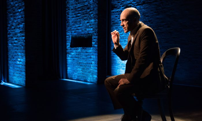 """Derren Brown, the psychological magician, first puts his audience at ease in """"Derren Brown: Secret."""" (Ahron R. Foster)"""