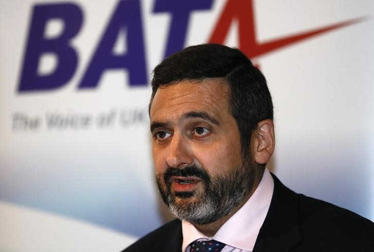Alex Cruz, Chairman and Chief Executive of British Airways attends The British Air Transport Association (BATA) Annual Lecture in London, Britain on Oct. 12, 2016. (REUTERS/Stefan Wermuth)