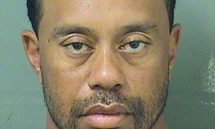 Tiger Eldrick Woods appears in a booking photo released by Palm Beach County Sheriff's Office in Palm Beach Florida on May 29, 2017. (Palm Beach County Sheriff's Office/Handout via REUTERSTHIS)