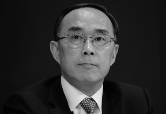 Chang Xiaobing, former head of China Telecom and China Unicom, in Hong Kong on Aug. 8, 2013. (Dale de la Rey/AFP/Getty Images)