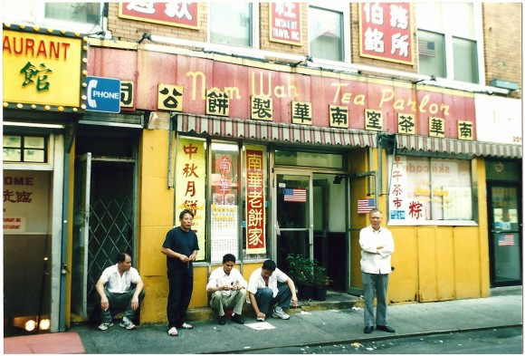 The Nom Wah Tea Parlor on Doyers Street has been operating since 1920. (Lia Chang/Museum of Chinese in America)