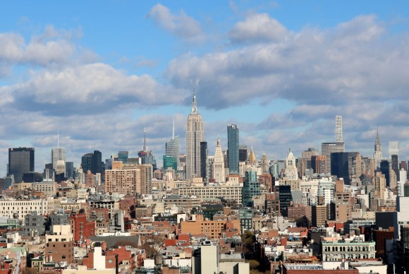View from the rooftop of Hotel 50 Bowery. (Chris Sanders)