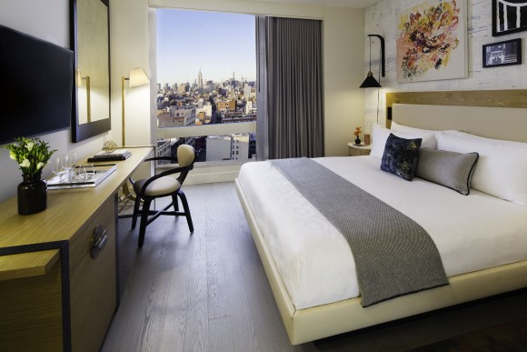 Room with a view at Hotel 50 Bowery. (Chris Sanders)