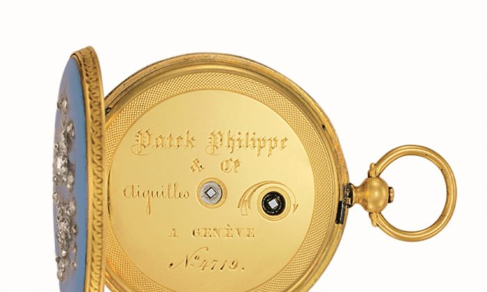 In 1851 at the Great  Exhibition in London,  Queen Victoria chose  this pendant watch at the 1851 Great Exhibition in London, an act which ensured  the reputation of the  Patek Philippe. (Patek USA)