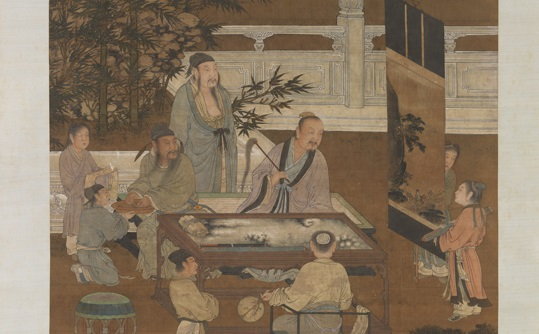 ''The Eighteen Scholars'' by an anonymous Ming Dynasty artist. The painting depicts the eighteen erudite Confucian scholars gathered by Emperor Taizong of Tang, when he established the Institute of Literary Studies. (Public Domain)