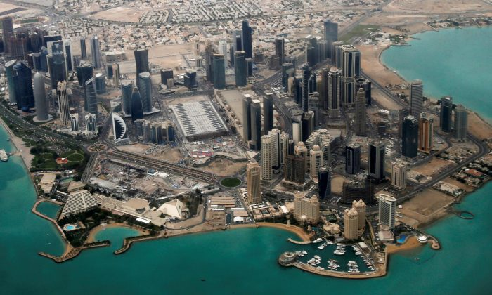 An aerial view of Doha's diplomatic area on March 21, 2013. (REUTERS/Fadi Al-Assaad)