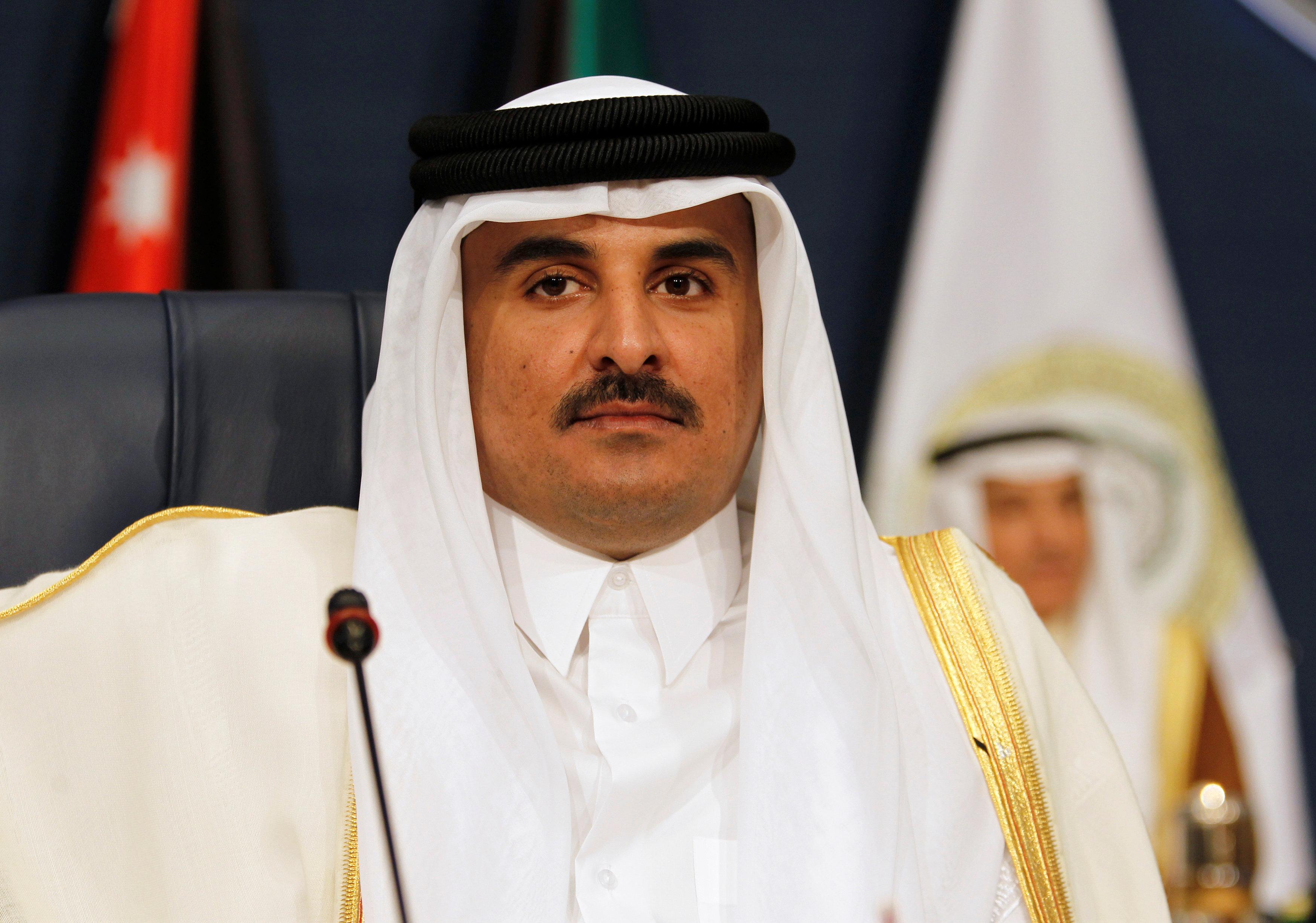 Emir of Qatar Sheikh Tamim bin Hamad al-Thani attends the 25th Arab Summit in Kuwait City on March 25, 2014. (REUTERS/Hamad I Mohammed)