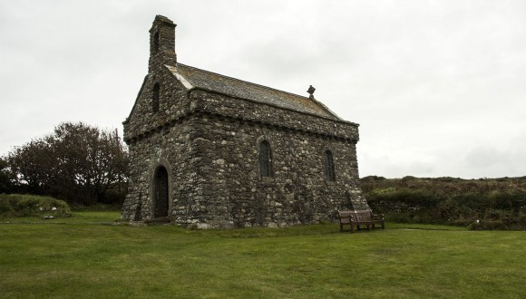 St. Non's Chapel. St.Non was the mother of St. David, the patron saint of Wales. A nearby natural well is reputed to contain healing waters. (Carole Jobin)