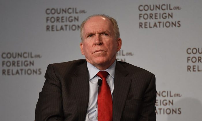 Then-Central Intelligence Agency (CIA) Director John Brennan at the Council on Foreign Relations in New York on March 13, 2015. (Don Emmert/AFP/Getty Images)