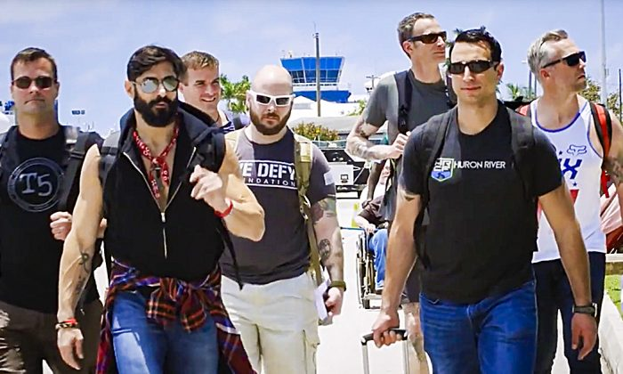 The Force Blue veterans embark on their first deployment to the Cayman Islands to help restore coral reefs in May 2017. (Courtesy of Working Pictures)