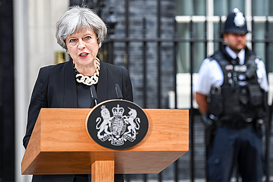 British Prime Minister Theresa May. (LEON NEAL/GETTY IMAGES)