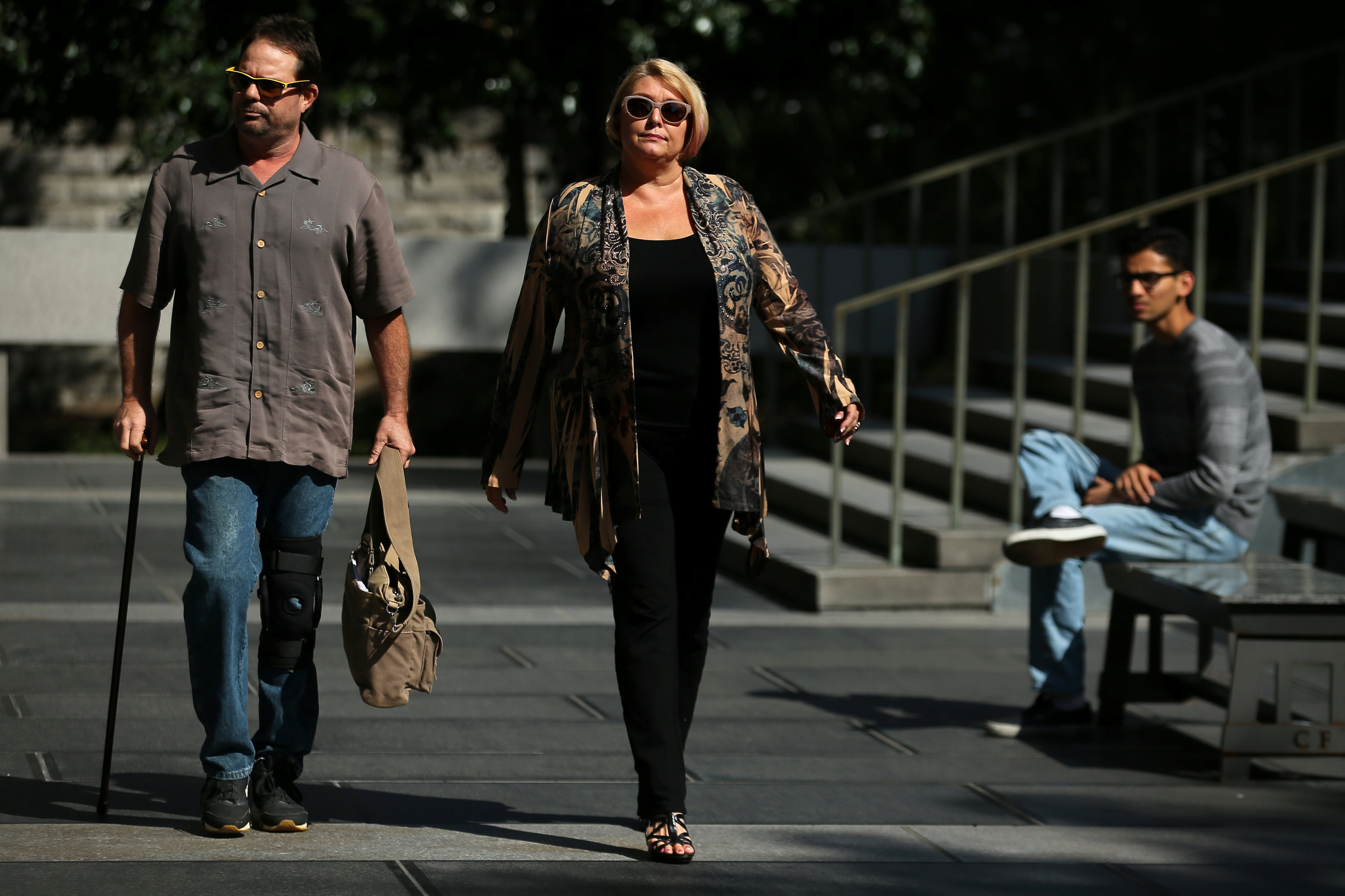 Samantha Geimer arrives at court to attend a hearing regarding the 40 year-old case against filmmaker Roman Polanski in Los Angeles, Calif., on June 9, 2017. (REUTERS/Mike Blake)