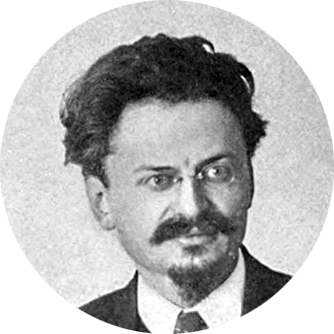 A portrait of Leon Trotsky, a Communist Party leader alongside Vladimir Lenin, and one of the seven members of the first Politburo. (The Russian Bolshevik Revolution, 1921)
