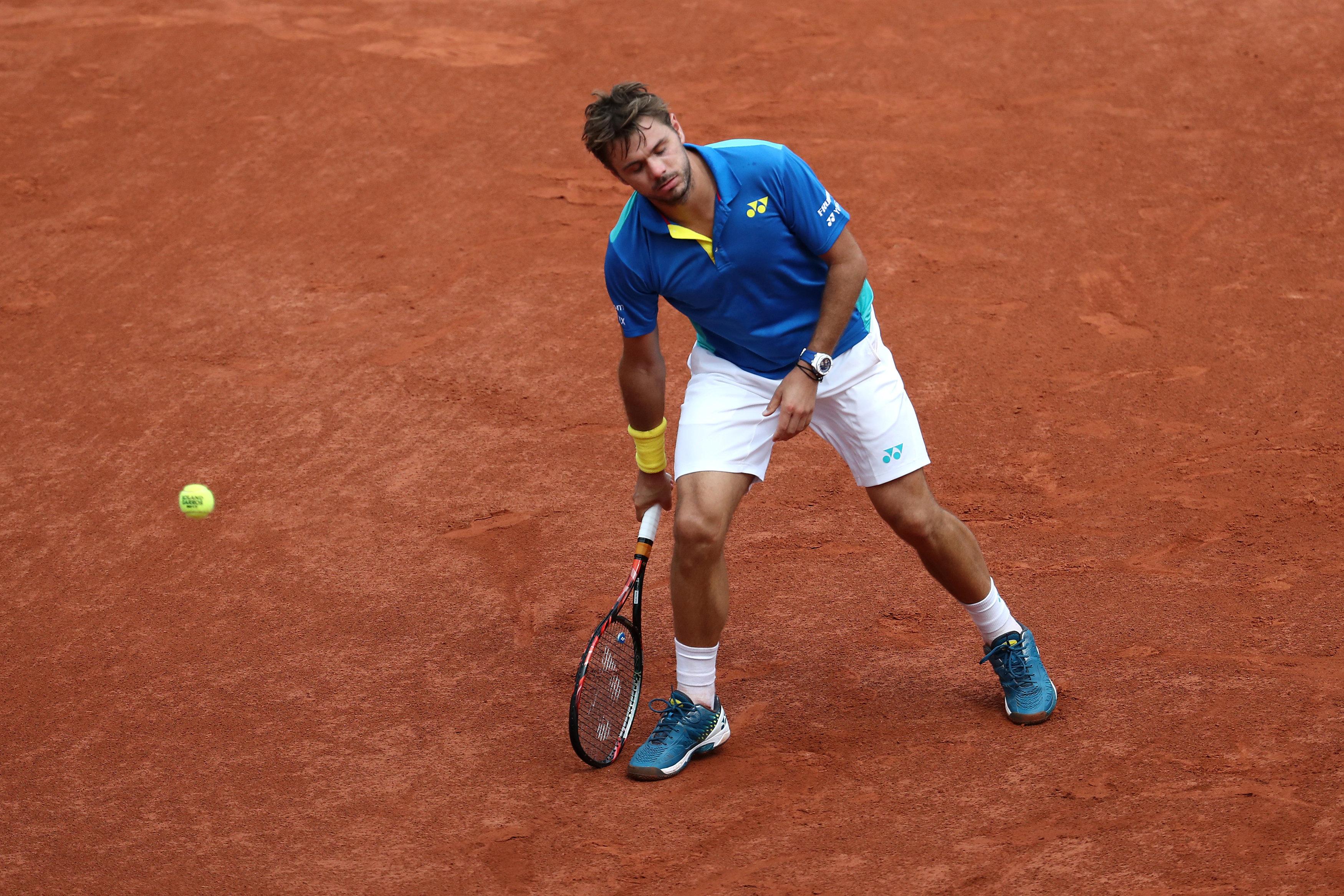 Switzerland's Stan Wawrinka looks dejected during the final against Spain's Rafael Nadal in Paris, France on June 11, 2017 (Reuters/Pascal Rossignol)