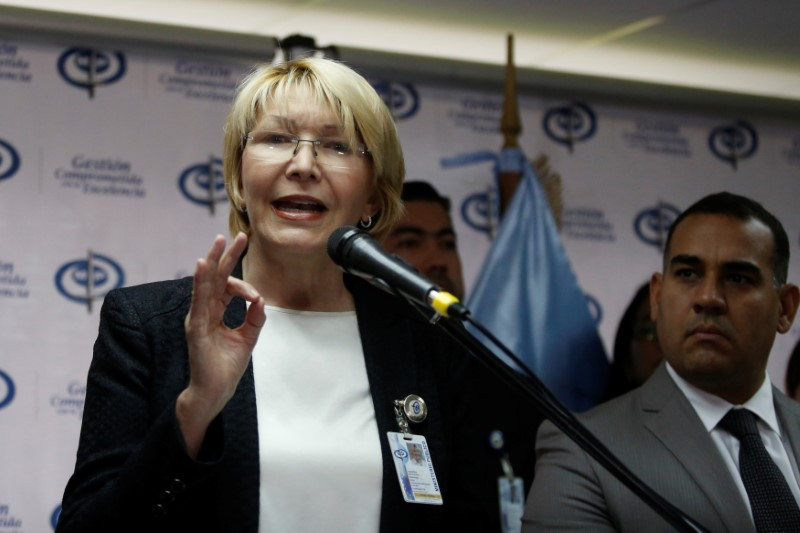 Venezuela's chief prosecutor Luisa Ortega Diaz talks to the media during a news conference in Caracas, Venezuela on May 24, 2017. (REUTERS/Marco Bello)