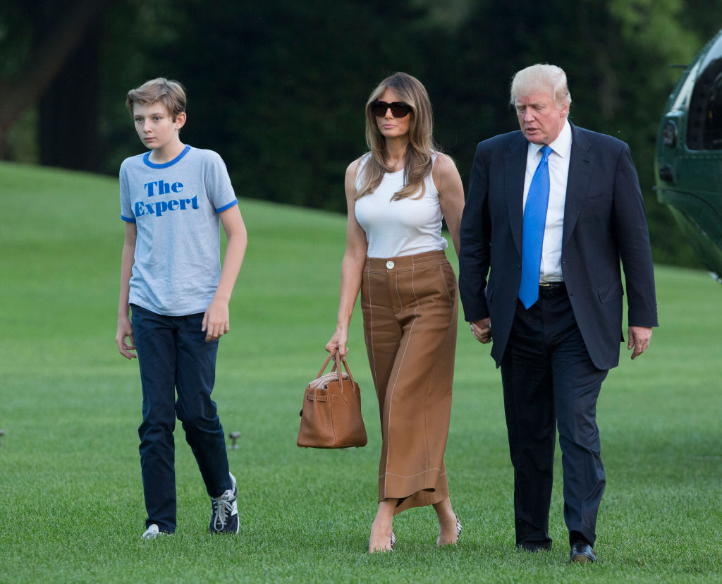 President Donald Trump, first lady Melania Trump and their son Barron Trump arrive at the White House in Washington on June 11, 2017. (Chris Kleponis-Pool/Getty Images)