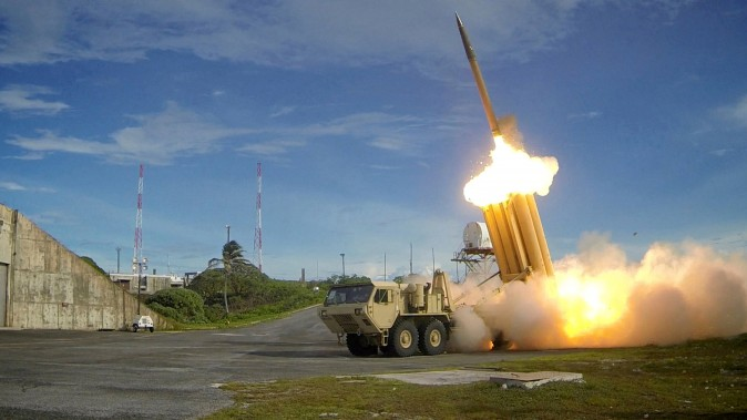 A Terminal High Altitude Area Defense (THAAD) interceptor is launched during a successful intercept test, in this undated handout photo provided by the U.S. Department of Defense, Missile Defense Agency.  (U.S. Department of Defense, Missile Defense Agency/Handout via Reuters)