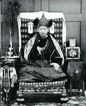 Dashi-Dorzho Itigelov in 1927, the year of his death. (Wikimedia Commons)