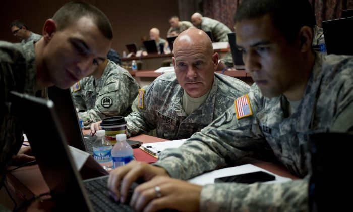 The U.S. Army's 'Cyber Center of Excellence', Fort Gordon in Augusta, Ga., hosted a multi-service 'NetWar' to show, and build, cyber Warrior capabilities on June 10. (Georgia Army National Guard photo by Staff Sgt. Tracy J. Smith)