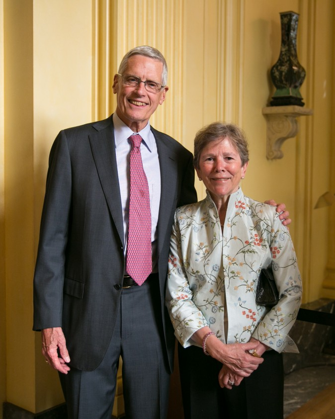 Frick Board Members Bradford and Barbara Evans. (Benjamin Chasteen/The Epoch Times)
