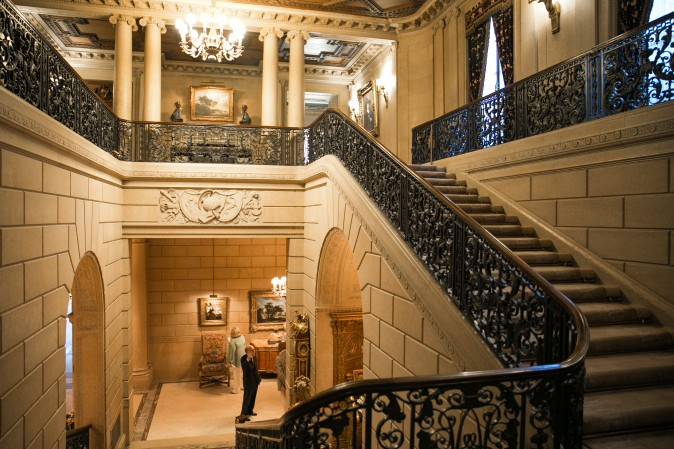 The grand staircase leading to the second floor of the Frick which is usually closed to the public. (Benjamin Chasteen/The Epoch Times)
