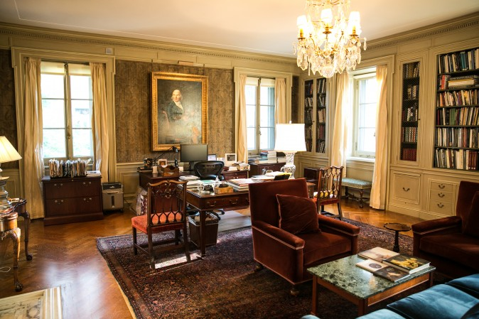 A rare look at the former second-floor study of Ms. Frick. (Benjamin Chasteen/The Epoch Times)