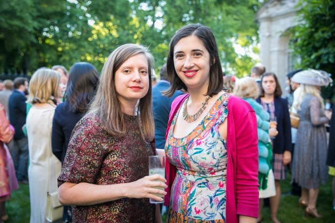 Julia Lukacher and Sarah Cascone. (Benjamin Chasteen/The Epoch Times)