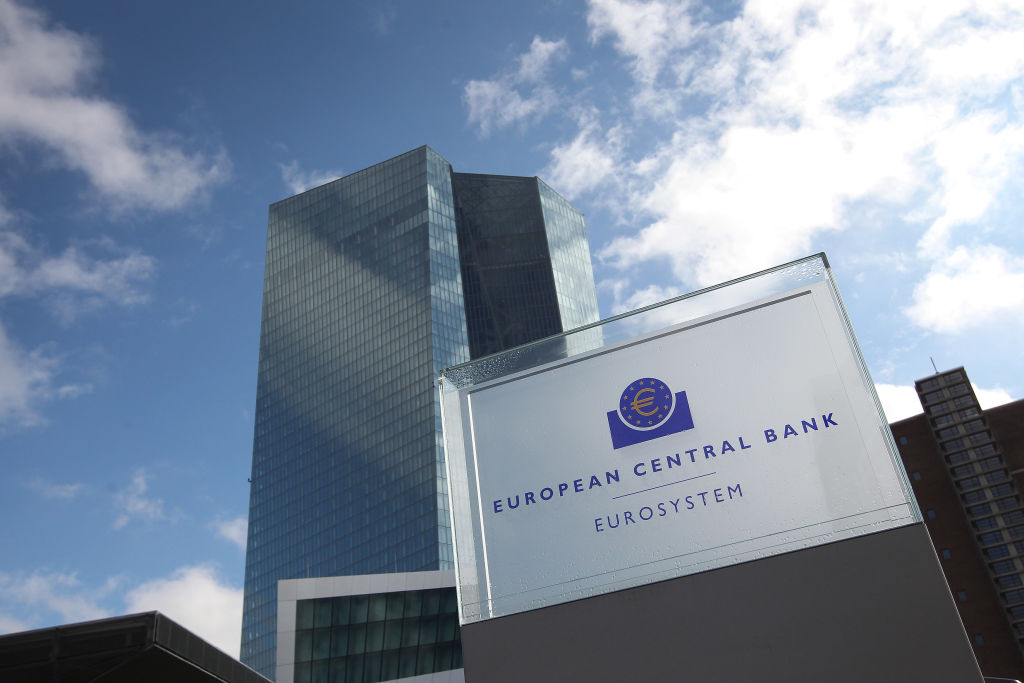 The European Central Bank, ECB is pictured in Frankfurt am Main, Germany, on March 9, 2017. (DANIEL ROLAND/AFP/Getty Images)