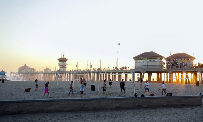 Huntington Beach Pier is pictured in this file photo. (Channaly Philipp/The Epoch Times)