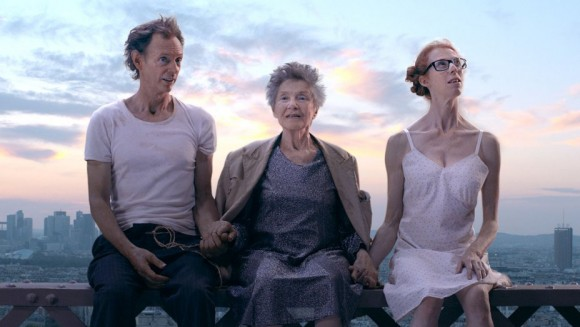 "Dominique Abel, Emmanuelle Riva, and Fiona Gordon in ""Lost in Paris."" (Dominique Abel, Emmanuelle Riva, and Fiona Gordon in ""Lost in Paris."" (mk2 Films)"