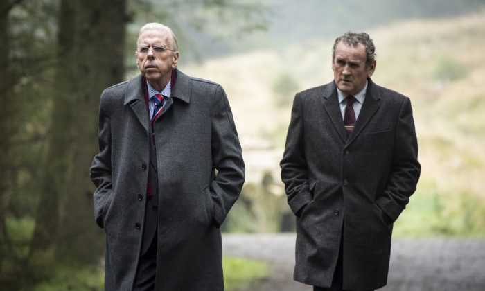"""(L–R) Timothy Spall and Colm Meaney in """"The Journey."""" (Steffan Hill)"""