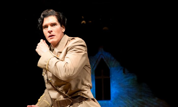 """British poet Siegfried Sassoon (Nicholas Carriere) in playwright Joseph Pearce's """"Death Comes for the War Poets."""" (sheencenter.org)"""