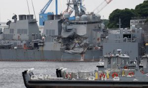 US Destroyer Almost Foundered After Collision, Bodies Found