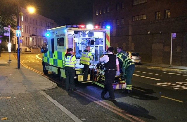 Emergency services are seen near Finsbury Park as British police say there are casualties after reports of a vehicle colliding with pedestrians in North London, Britain on June 19, 2017. (REUTERS/Ritvik Carvalho)