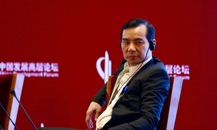 Wu Xiaohui, chairman of Anbang Insurance Group Co., at the China Development Forum in Beijing on March 18. (Da Ji Yuan)