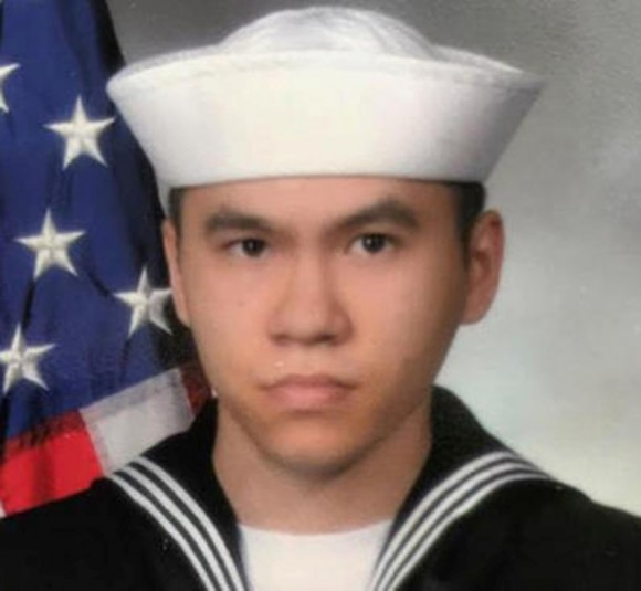 Sonar Technician 3rd Class Ngoc T Truong Huynh, 25, from Oakville, Connecticut, one of the dead sailors identified by the U.S. Navy from a collision between the U.S. Navy destroyer USS Fitzgerald and Philippine-flagged merchant vessel, is seen in this undated handout photo released by the U.S. Navy on June 19, 2017. (Courtesy of U.S. Navy/Handout via Reuters)