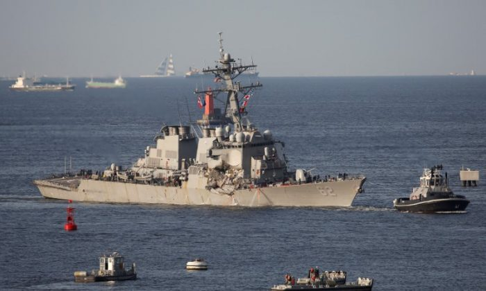 The Arleigh Burke-class guided-missile destroyer USS Fitzgerald. (REUTERS/Toru Hanai)