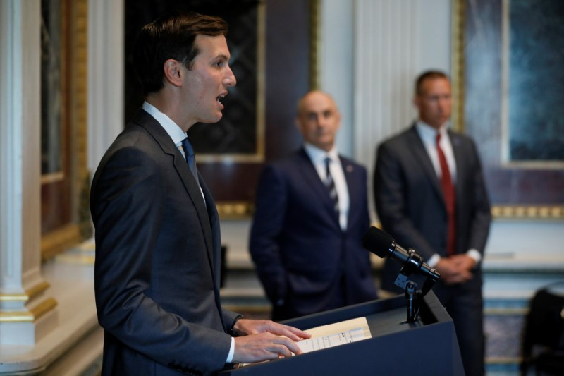 White House senior adviser Jared Kushner welcomes technology company leaders to a summit of the American Technology Council at the Eisenhower Executive Office Building in Washington on June 19, 2017. (REUTERS/Jonathan Ernst)