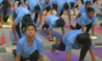 Children with disabilities participate in yoga camp in India