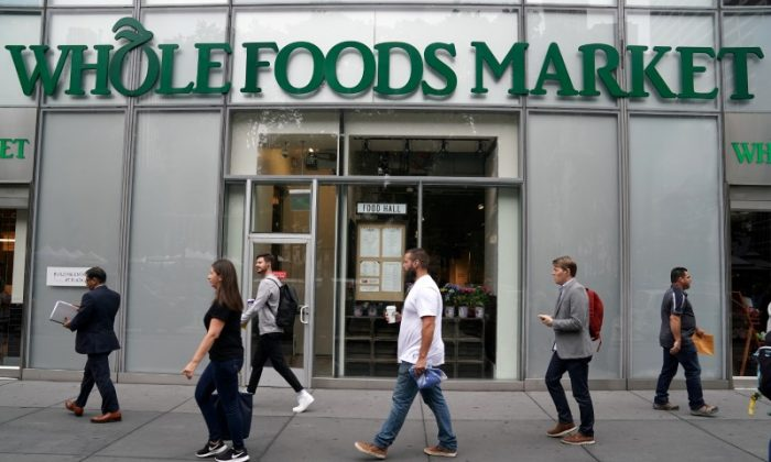 A Whole Foods Market is pictured in the Manhattan borough of New York City, New York on June 16, 2017. (REUTERS/Carlo Allegri)