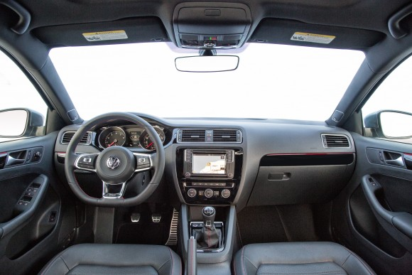 The interior of the 2017 Jetta GLI. (Courtesy of Volkswagen)