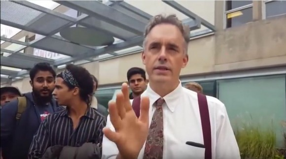 University of Toronto psychology professor Jordan Peterson after speaking at a rally at the university in October 2016. Peterson has become a leading figure in the debate over free speech versus censorship on campuses. (Screengrab/YouTube)