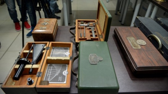 Nazi artifacts seized in the house of an art collector are displayed in Buenos Aires, in this undated handout released on June 20, 2017. (Courtesy of the Argentine Ministry of Security/Handout via Reuters)